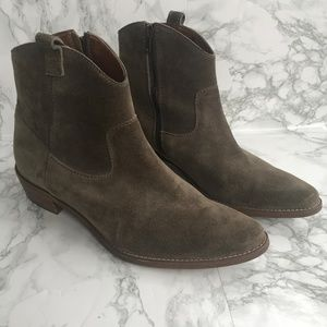 Madewell The Barnwood Boot Tan Suede Size 9.5